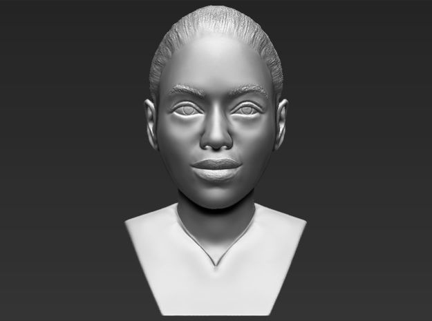 Beyonce Knowles bust in White Natural Versatile Plastic