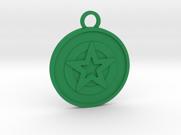 Ace of Pentacles in Green Processed Versatile Plastic