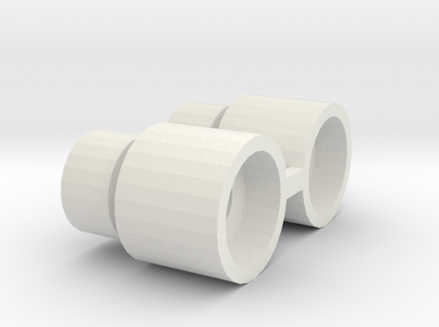 TAMIYA HILUX REAR AXLE COLLAR in White Natural Versatile Plastic
