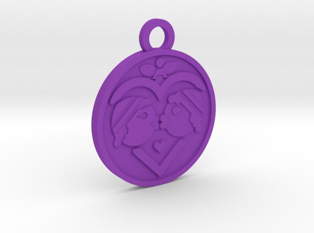 The Lovers in Purple Processed Versatile Plastic