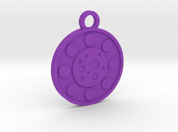The Moon in Purple Processed Versatile Plastic