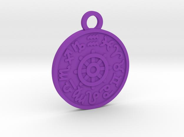 The Wheel of Fortune in Purple Processed Versatile Plastic