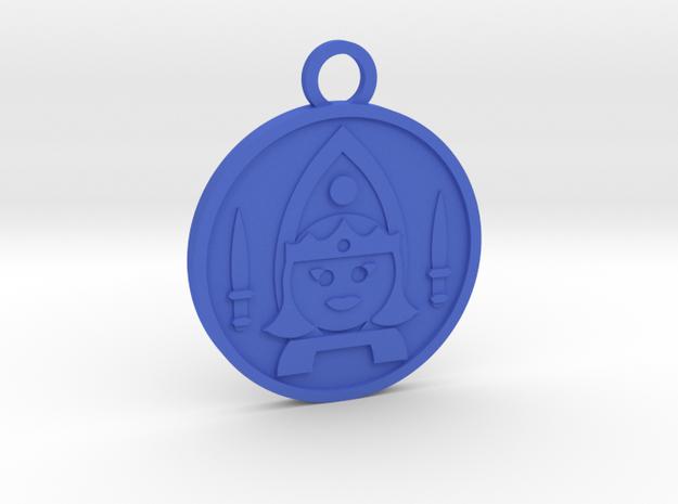 Queen of Swords in Blue Processed Versatile Plastic