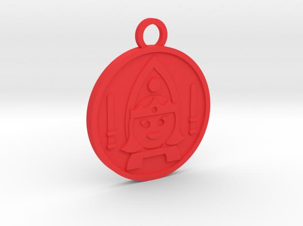 Queen of Wands in Red Processed Versatile Plastic