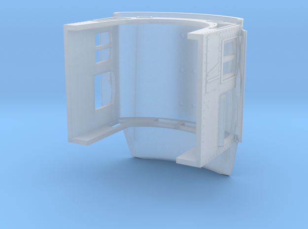 N ATSF extended tapered cab in Smooth Fine Detail Plastic