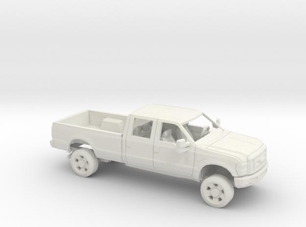 1/64 2007-10  Ford F Series Crew Cab Reg. Bed Kit in White Natural Versatile Plastic