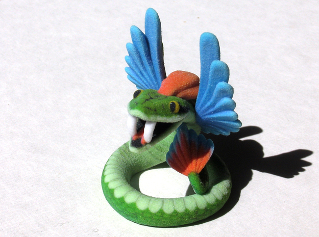 Quetzalcoatl in Full Color Sandstone