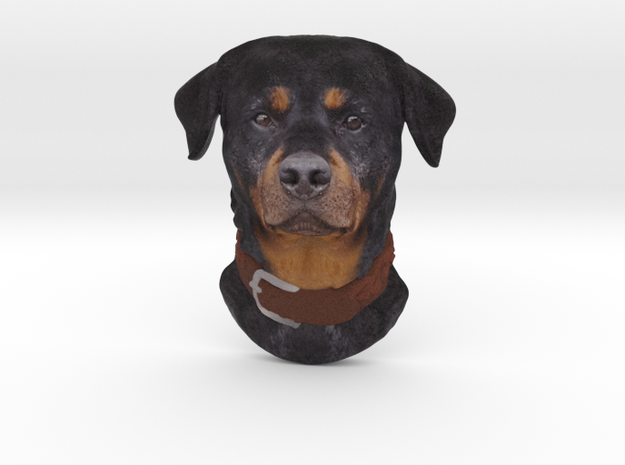 Reliëf / Rottweiler / 180mm / art.#MK008 in Natural Full Color Sandstone