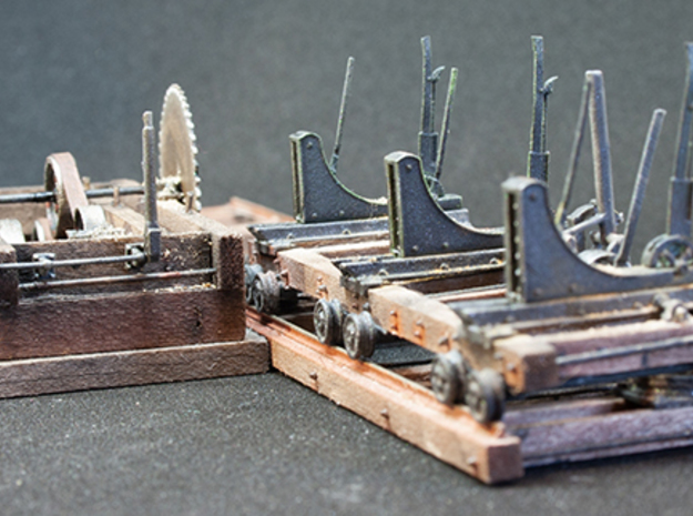 Heavy lumber mill (HO scale) in Smooth Fine Detail Plastic