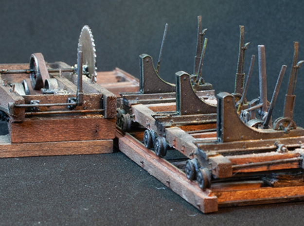 Heavy Lumber Mill (S scale) in Smooth Fine Detail Plastic