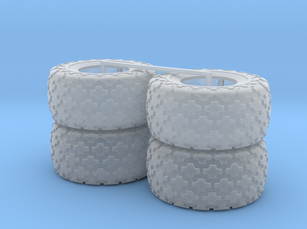 (4) 35.5-32 BUTTON TREAD TIRES ONLY in Smooth Fine Detail Plastic