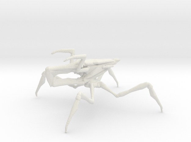 Starship Troopers Arachnoid 1/60 for games and rpg in White Natural Versatile Plastic