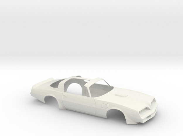 1/14 1977 Pontiac Firebird Trans Am T-Top Shell in White Natural Versatile Plastic
