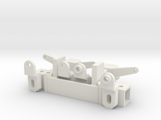 Front axle for chassis 50mm, scale 1:15 in White Natural Versatile Plastic