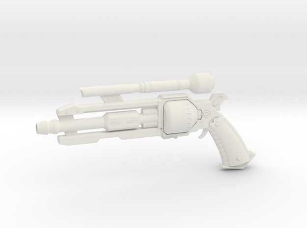 1:3 Miniature Smuggler Pistol in White Natural Versatile Plastic