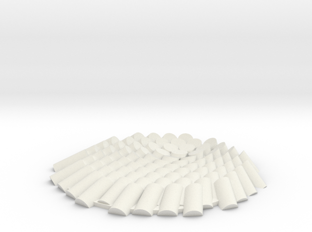 M047_Sun Angle Disc Array  in White Natural Versatile Plastic