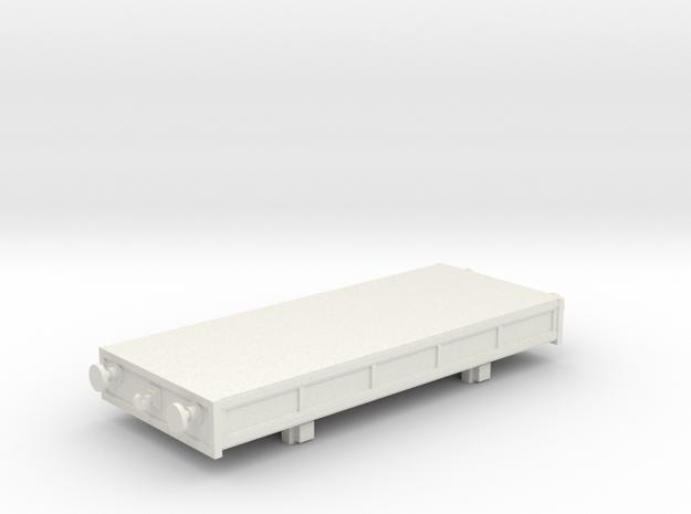 Breakdown Crane Flatbed OO / HO in White Natural Versatile Plastic
