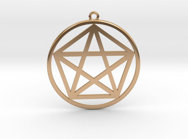 Pentagram in Polished Bronze