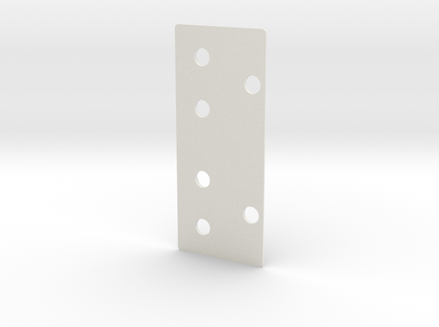 Towing Pin Plate AHTS in White Natural Versatile Plastic