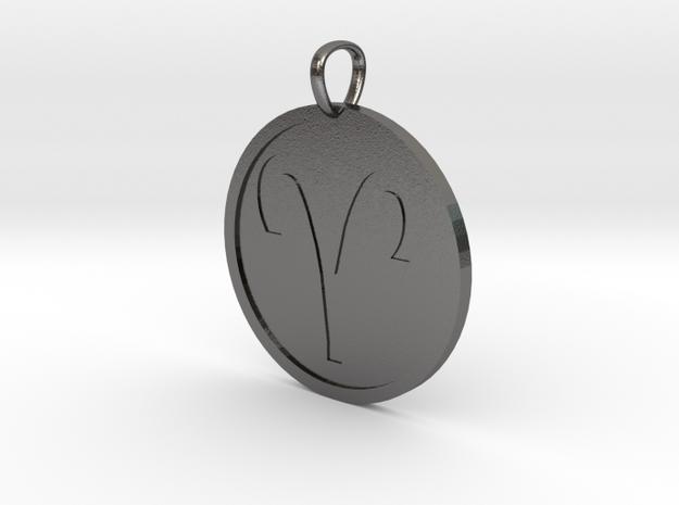 Aries Medallion in Polished Nickel Steel