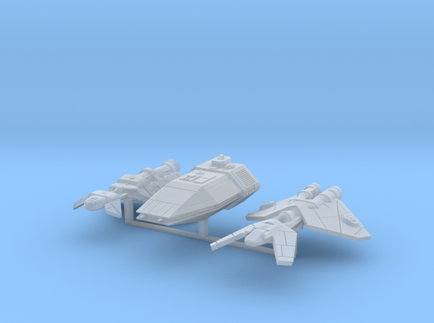 Patrol Ships 3 pack in Smooth Fine Detail Plastic