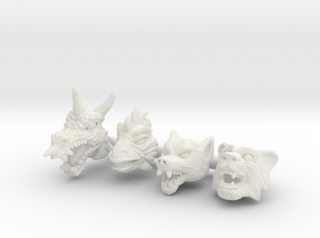 Beast Squad Headpack - Multisize in White Natural Versatile Plastic: Extra Small