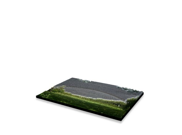Full Color Photoshaper (10x7cm) in Full Color Sandstone