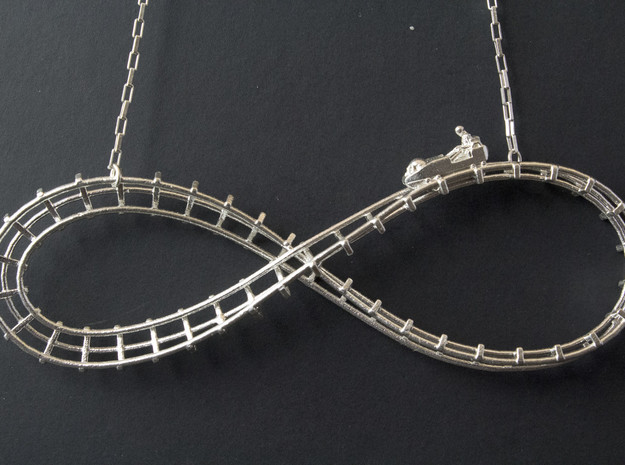 Infinity Coaster in Natural Silver
