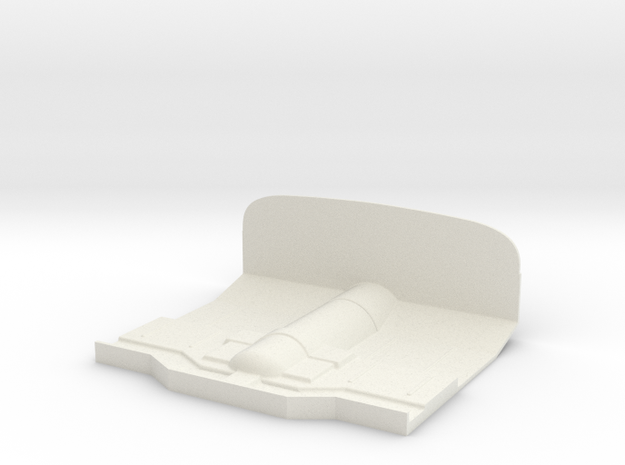 Tamiya Jeep YJ/CJ Interior Floor Panel Front in White Natural Versatile Plastic