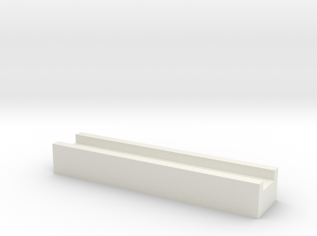 Aqueduct Channel in White Natural Versatile Plastic