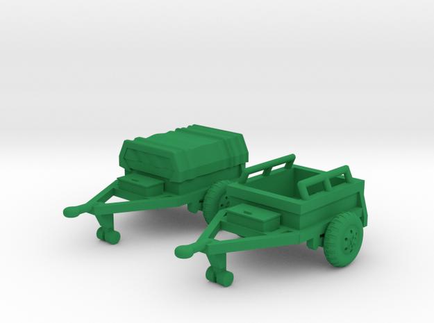 M332 Ammo Trailer in Green Processed Versatile Plastic: 1:144