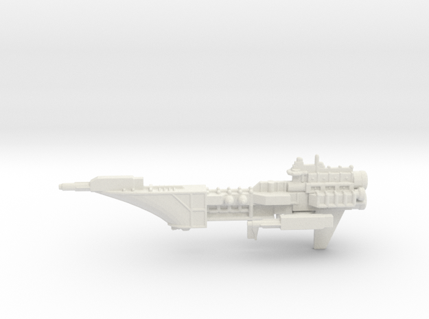 Navy Frigate - Concept 2  in White Natural Versatile Plastic