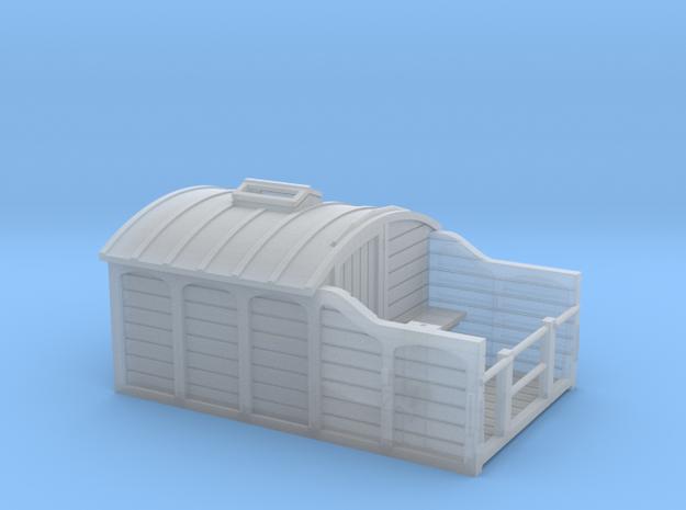 N Gauge LNWR Brake Van (Early Version) in Smooth Fine Detail Plastic
