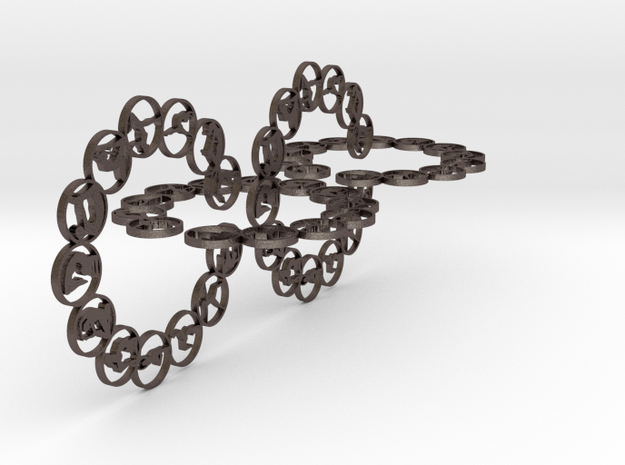 chain big 3mm in Polished Bronzed-Silver Steel