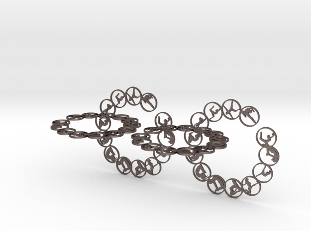 chain big 2.25mm in Polished Bronzed-Silver Steel