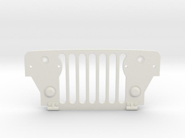 Tamiya Wild Willy M38 Grill in White Natural Versatile Plastic