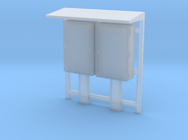 O Scale Industrial Relay Cabinets in Smooth Fine Detail Plastic