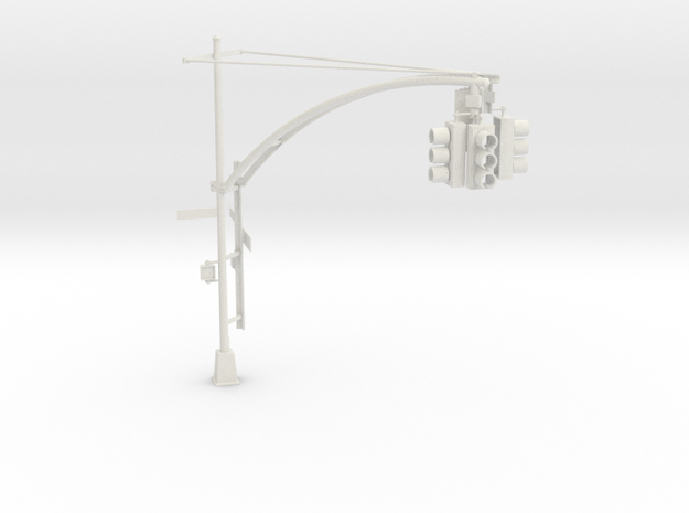 Traffic Light - New York City O scale #1 in White Natural Versatile Plastic