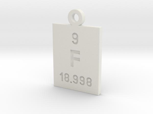 F Periodic Pendant in White Natural Versatile Plastic
