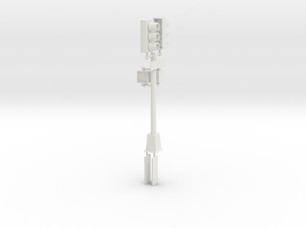 Traffic Light  - New York City 2 in White Natural Versatile Plastic