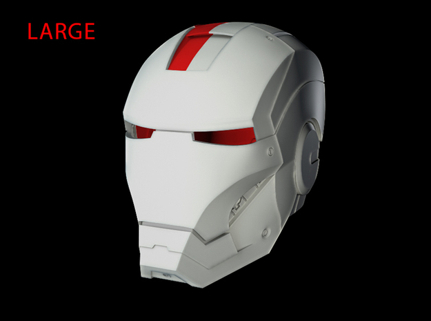 Iron Man Helmet - Head Right Side (Large) 1 of 4 in White Strong & Flexible