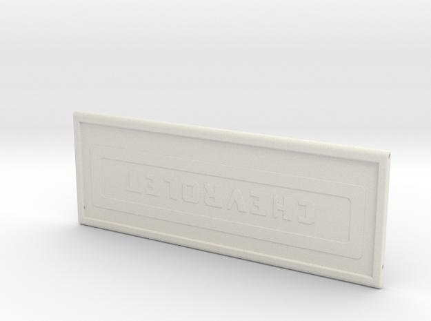 Tailgate for Stepside Bed for RC4WD K5 Blazer Body in White Natural Versatile Plastic