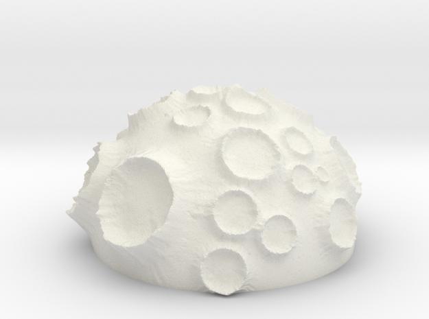 ! - Volcanic Crater Planet in White Natural Versatile Plastic