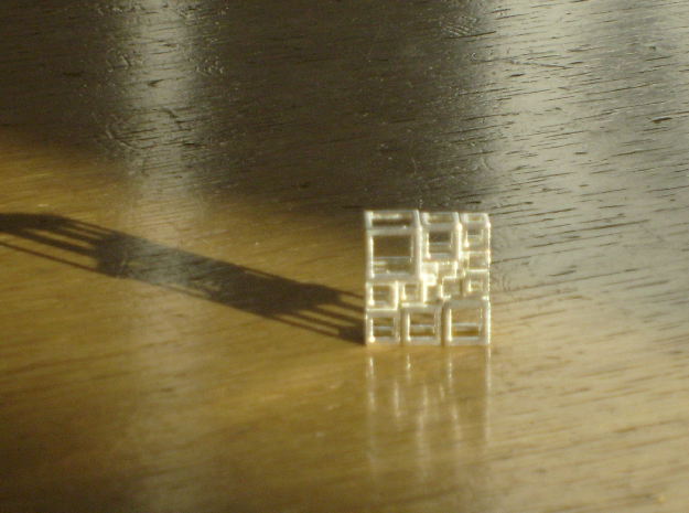 SPSS Cubes 21 in Natural Silver