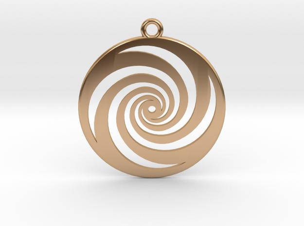 Golden Phi Spiral in Polished Bronze