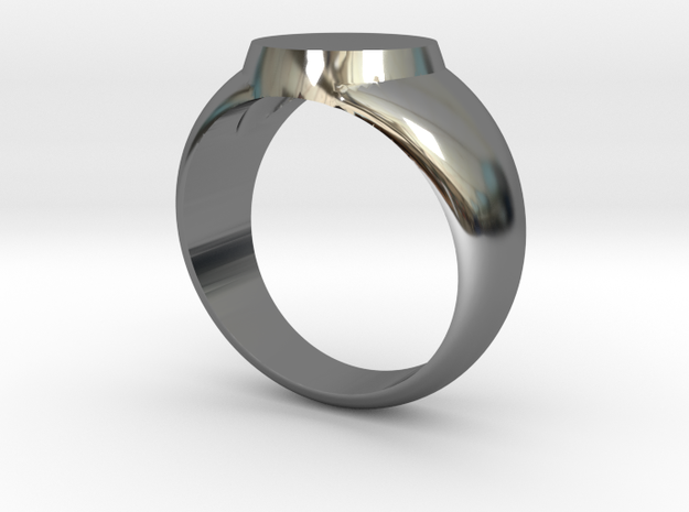 Signet ring in Fine Detail Polished Silver