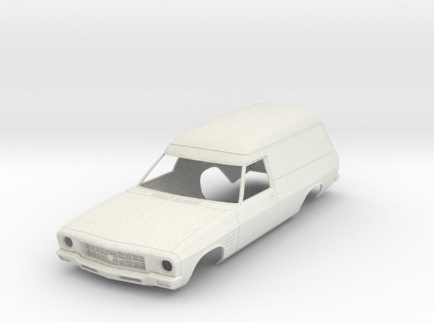 1/10 Holden HQ Sandman Panelvan RC Body in White Natural Versatile Plastic