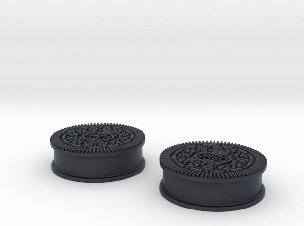Oreo Cookie earring plugs in Black PA12