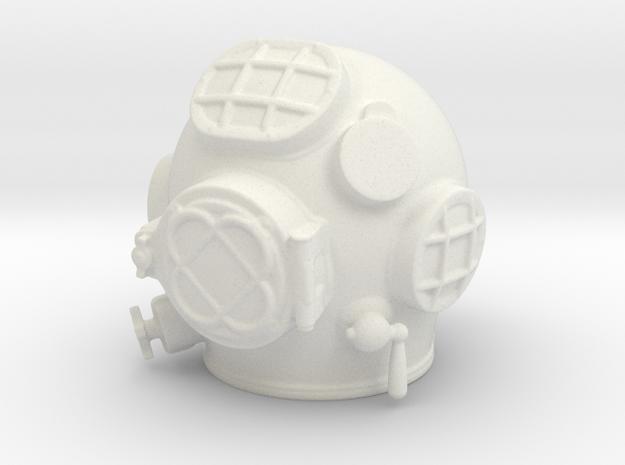 12th scale MK V Diving Helmet in White Natural Versatile Plastic