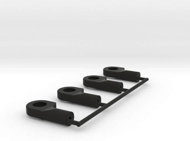 rotule M2 traxxas ball 2_5mm offset x4 in Black Natural Versatile Plastic